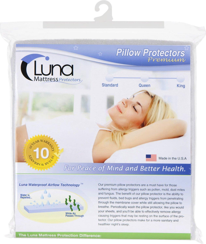 Luna Premium Mattress Protector Luna Premium Hypoallergenic Zippered Waterproof Bed Bug ...