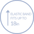 Elastic band that fits up to 18 inches