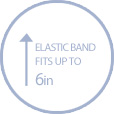Elastic band that fits up to 6 inches